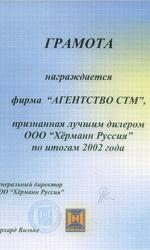 Грамота Hormann 2002