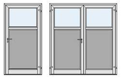 Дверь MZA с перекладиной