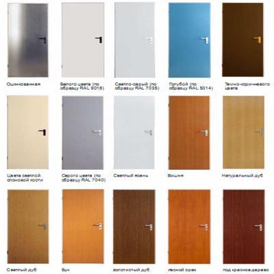 цвета дверей ZK